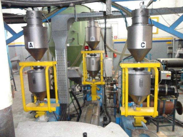 BLOWN FILM CO-EXTRUSION LINE second hand plastic machinery
