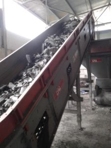 TIRE RECYCLING LINE USED