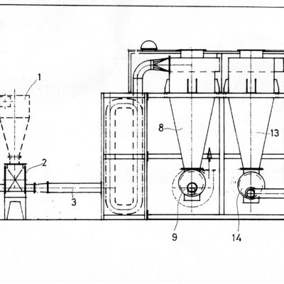 DRYING SYSTEM FOR PLASTIC WASHING PLANTS