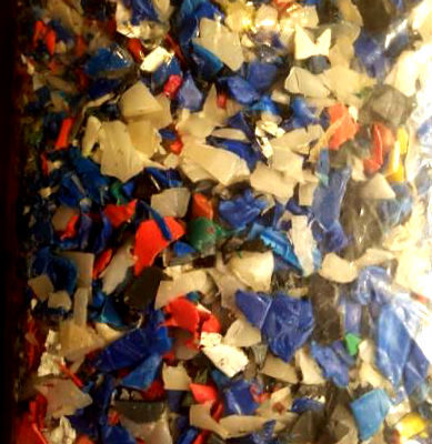 HDPE REGRIND MIXED JERRY CANS